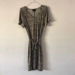 Dana Bachman Woman Faux Wrap Dress